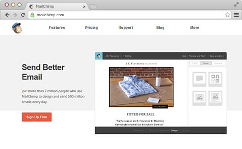 MailChimp Screenshot