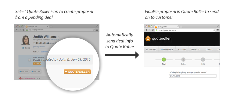 Create Professional Proposals With Quote Roller OnePageCRM Amazing Quote Roller