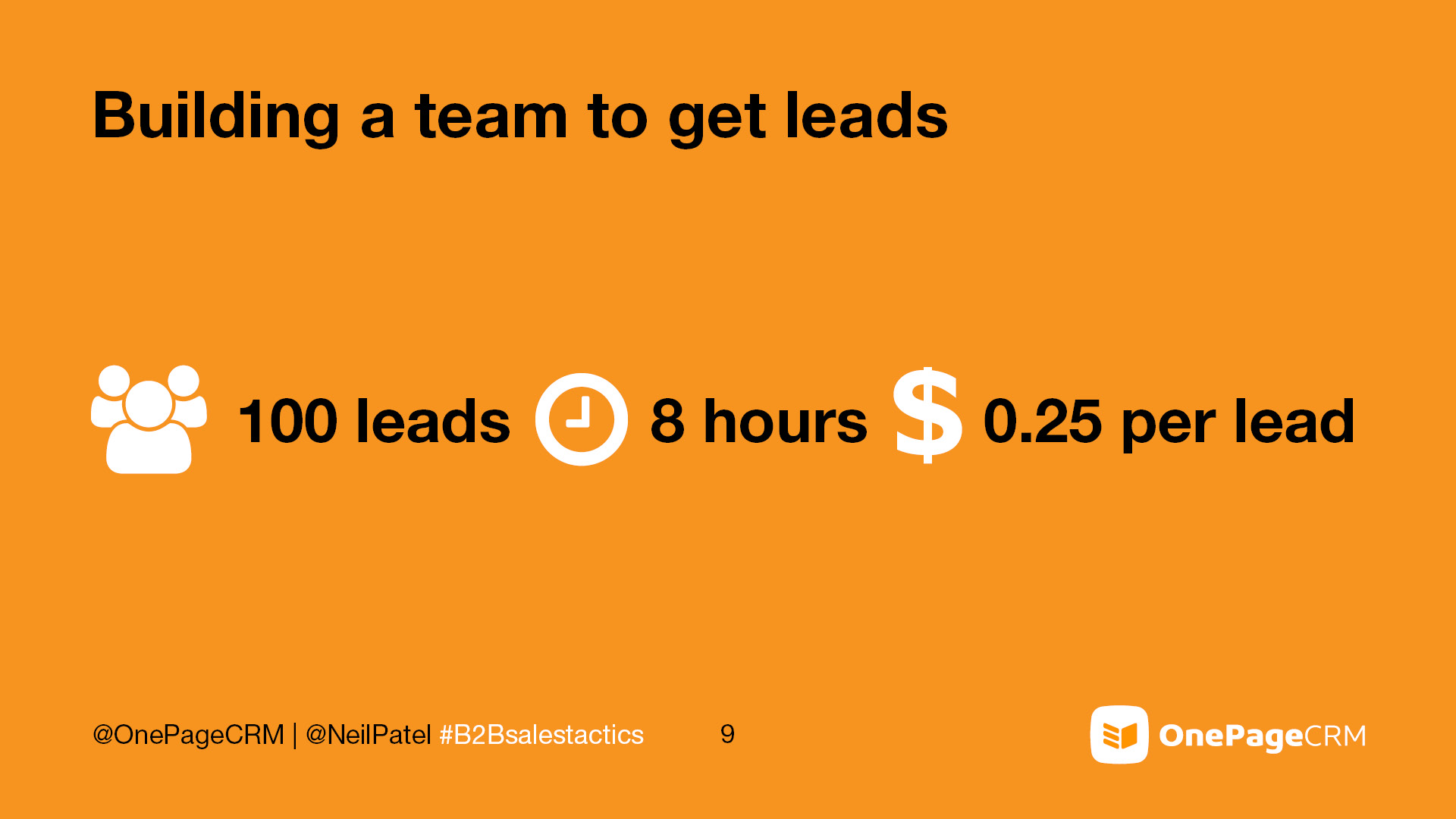 Expert Tactics - Outsource leads