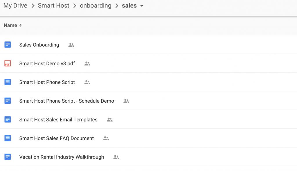 Smart Host Sales Onboarding Folder