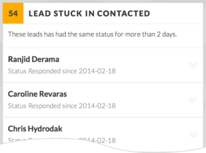 Lead stuck in status