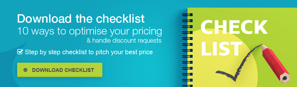 Checklist 10 ways to optimise your pricing and handle discount requests