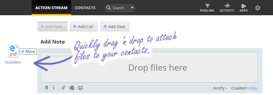 Drag and Drop files