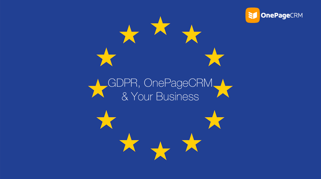 GDPR and OnePageCRM