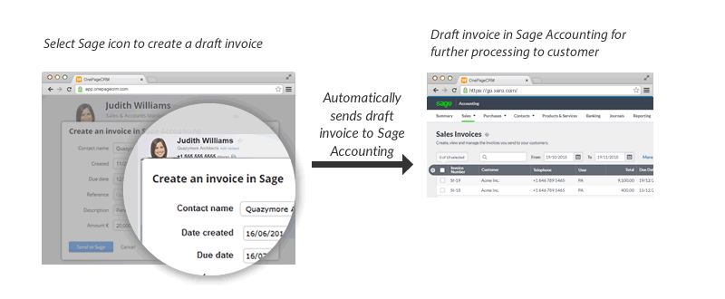 Xero and OnePageCRM How it works