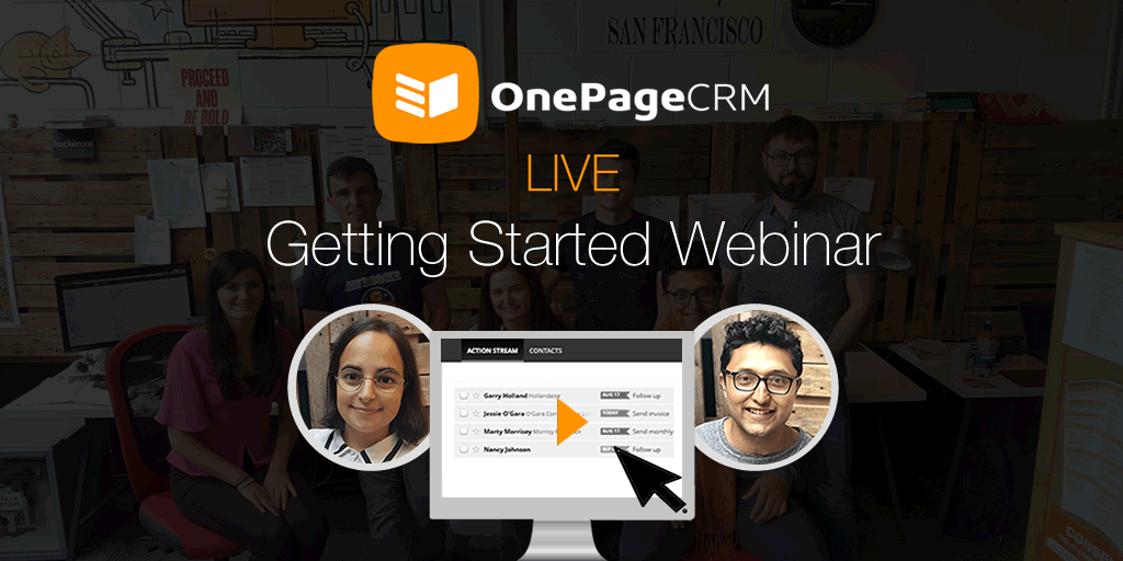 Getting started webinar - OnePageCRM