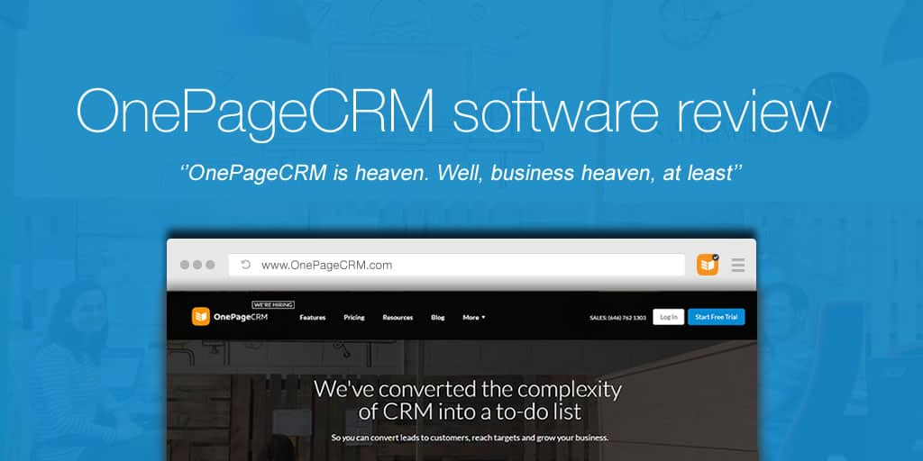 OnePageCRM review: Maximise deals with the Next Action sales method