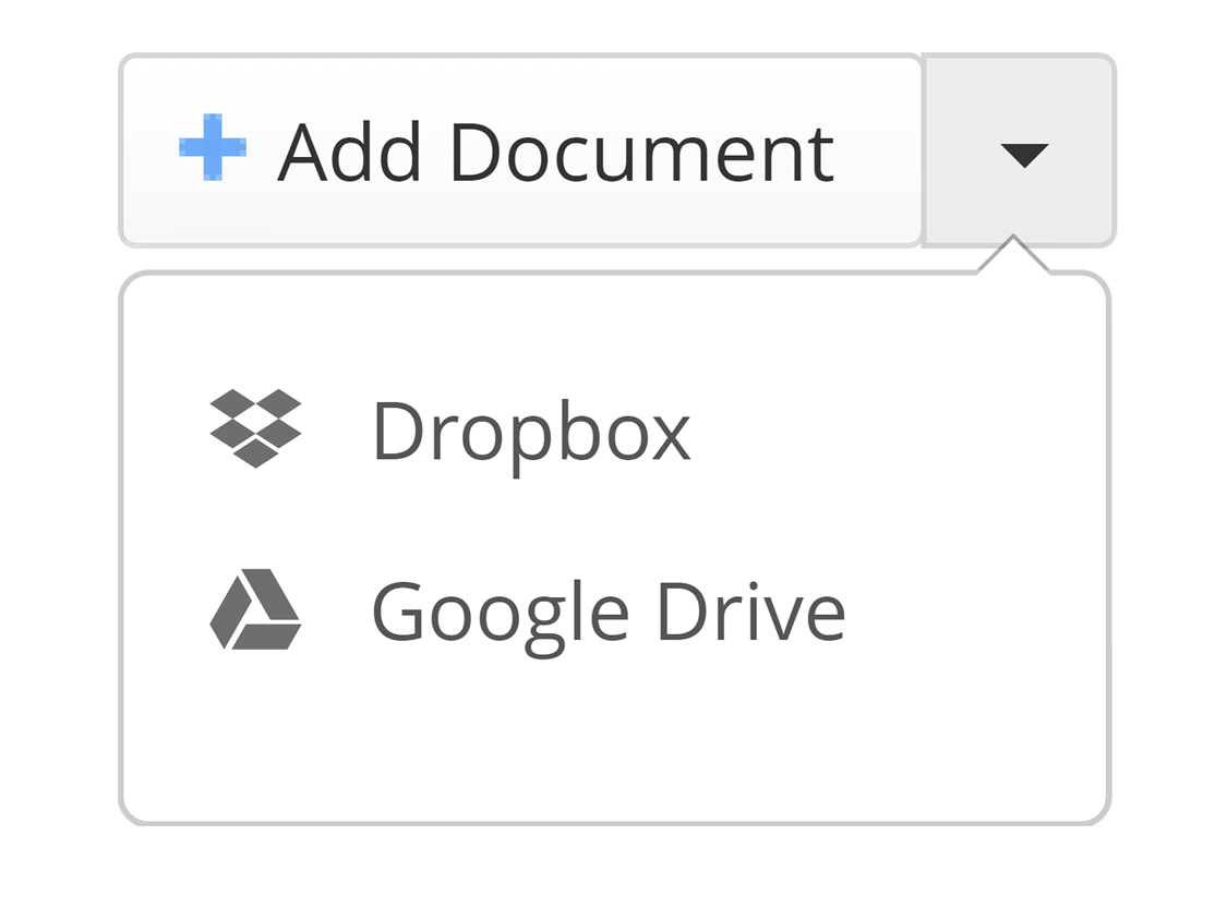 Upload documents OnePageCRM