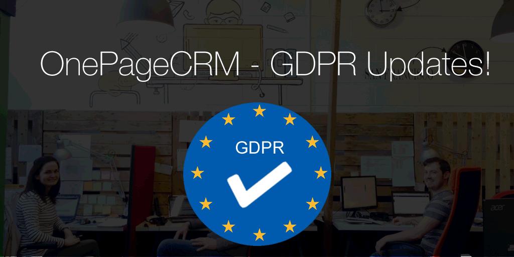 OnePageCRM – GDPR updates!