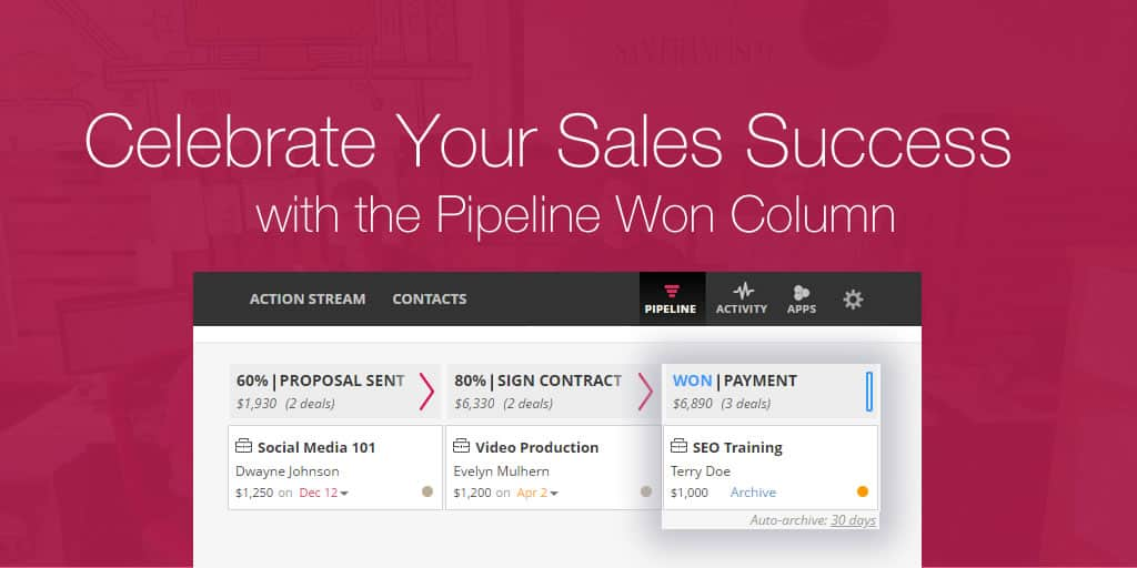 Celebrate Your Sales Success with the Pipeline Won Column