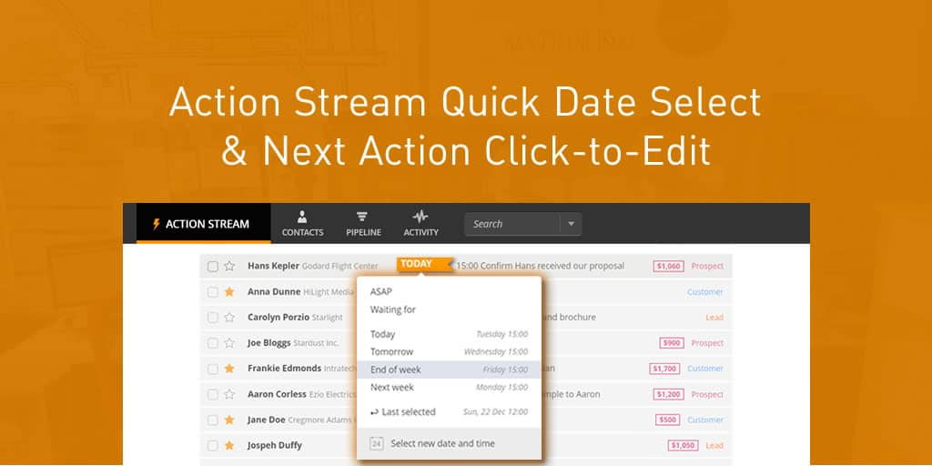 Instant Edits for Action Stream & Next Action
