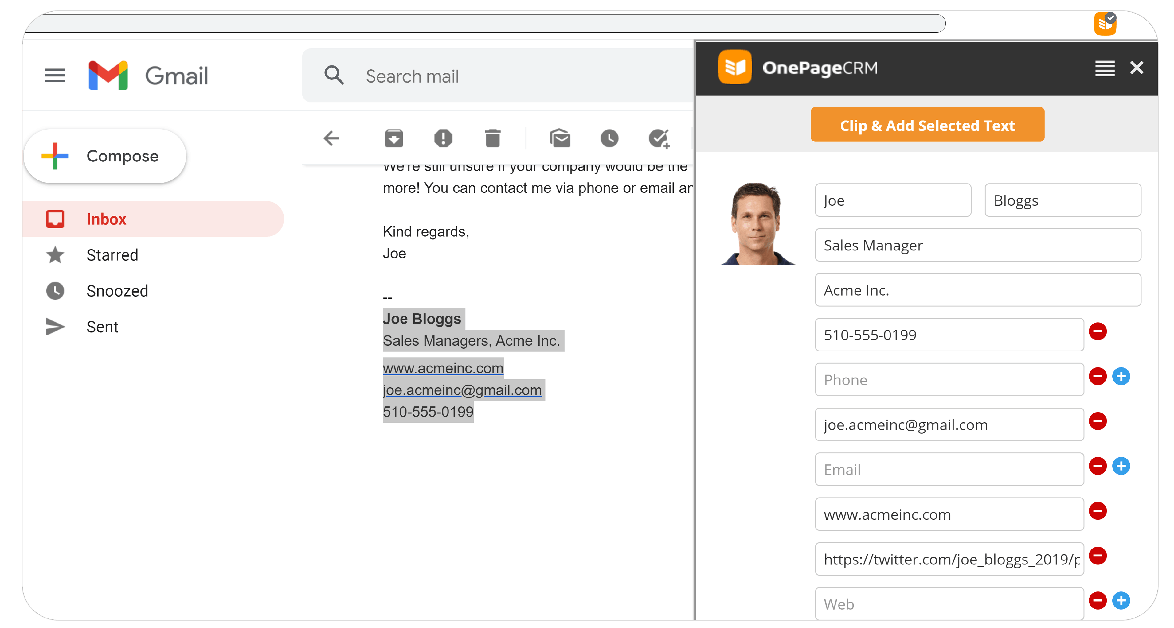 Generate leads from email signature
