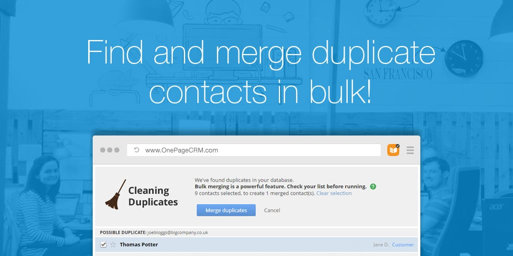Find and Merge duplicate contacts in bulk!