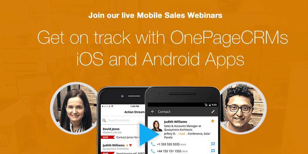 Live Mobile Sales Webinars