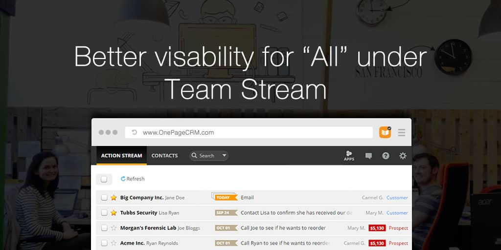 "Better visibility for ""All"" under Team Stream"