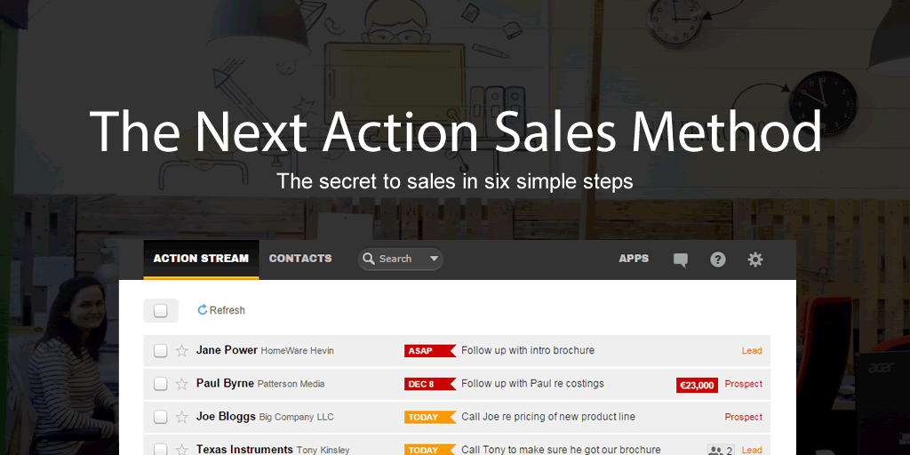 Next Action Sales method blog image v1