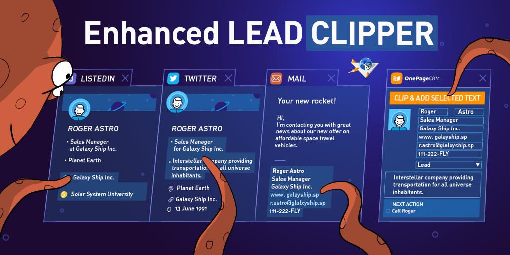 OnePageCRM Lead Clipper Enhanced