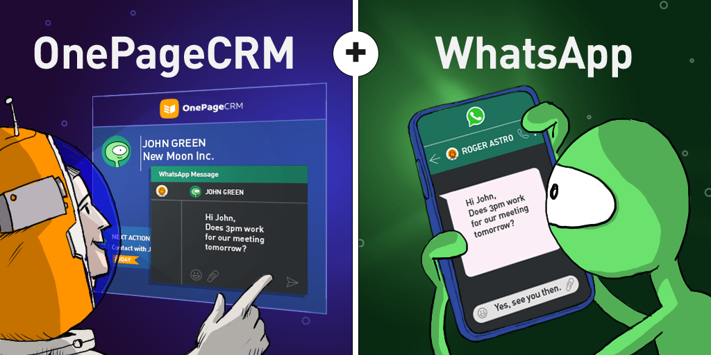 OnePageCRM and WhatsApp: Call and Message Your Leads in a Click