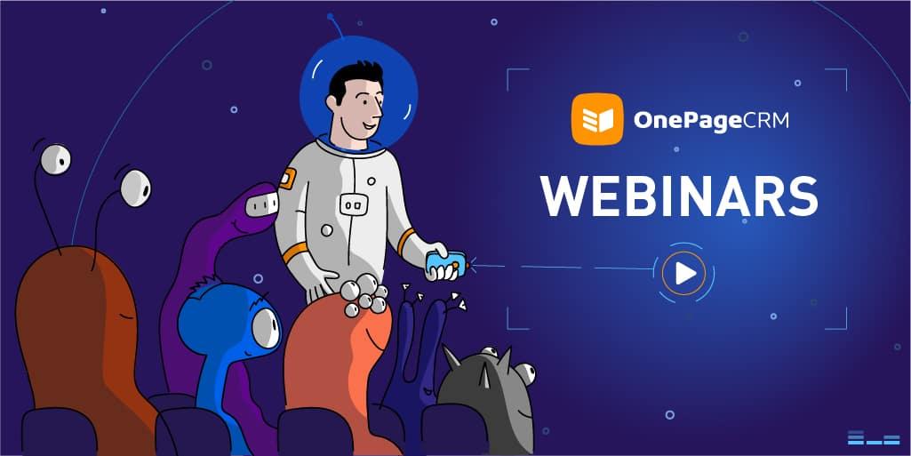 OnePageCRM webinars page