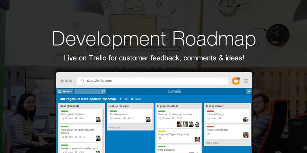 OnePageCRM Development Roadmap – Live on Trello!