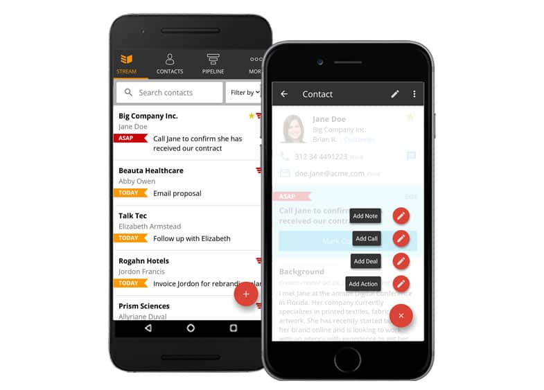OnePageCRM mobile CRM for agencies