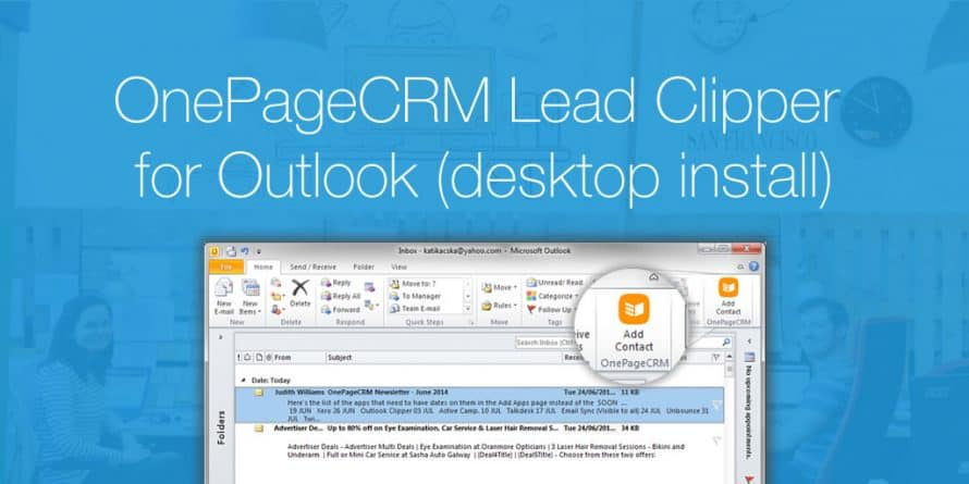OnePageCRM Lead Clipper for Outlook (desktop install)