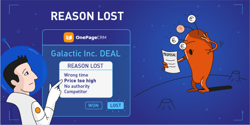 Reason Lost Deal OnePageCRM