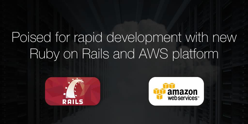 Poised for rapid development with new Ruby on Rails and AWS platform