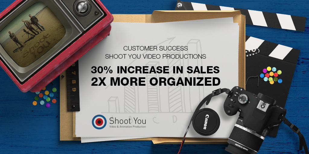 Shoot You Video Productions increases sales by 30% and are 2 X times more organized using OnePageCRM