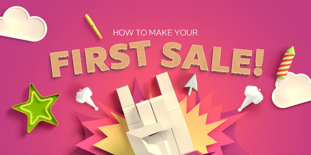How does a small company make its first B2B sale?