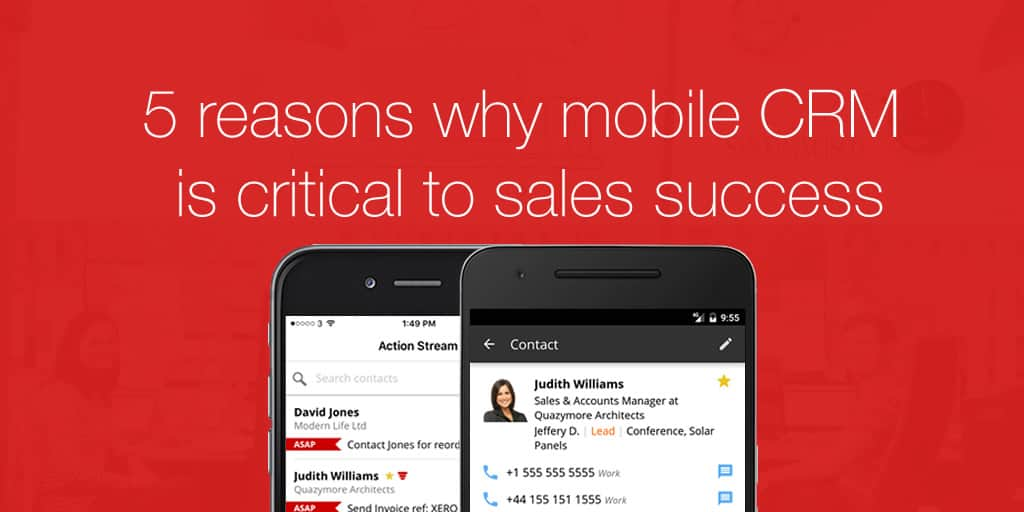 Mobile CRM critical for sales teams