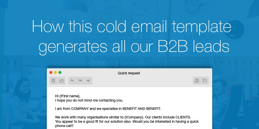 Cold Email Prospecting Template