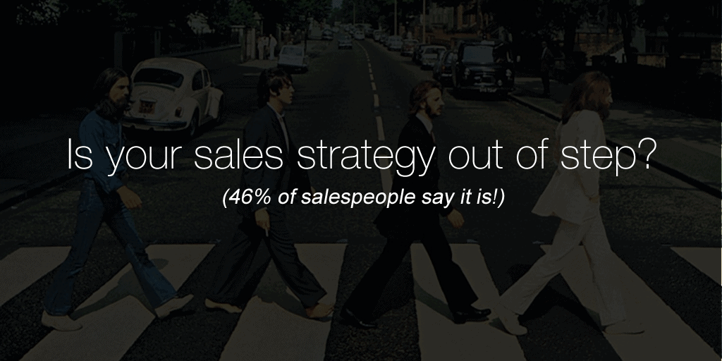 [INFOGRAPHIC] Is your sales strategy out of step? (46% of salespeople say it is!)