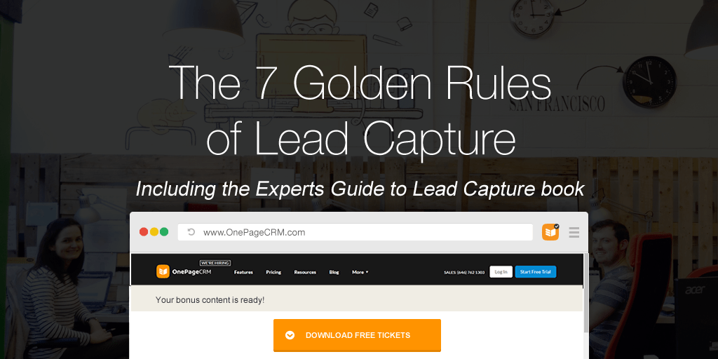 the 7 golden rules of lead capture