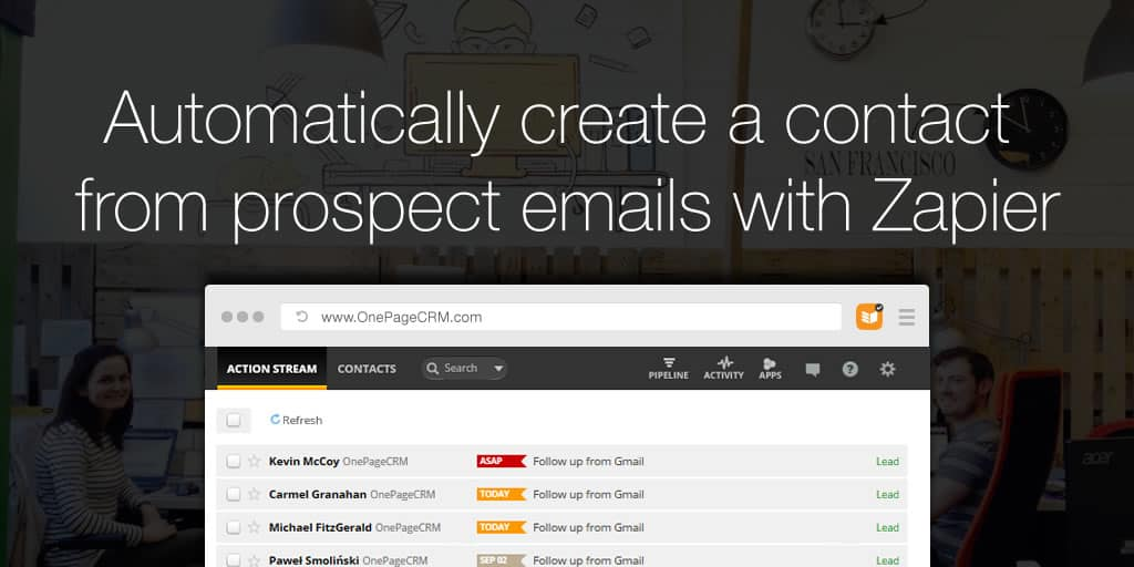 Automatically create a contact from prospect emails with Zapier
